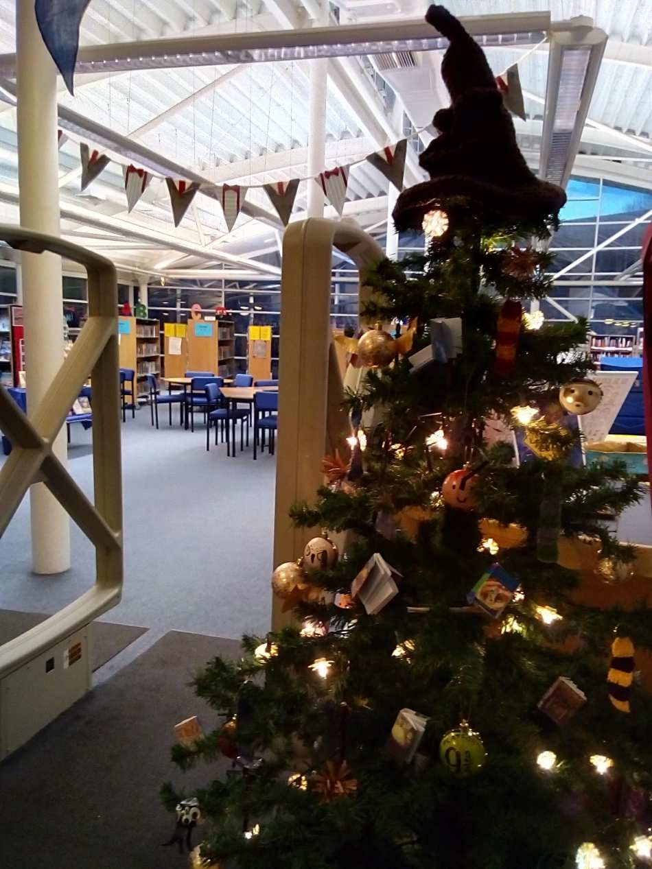 Harry Potter Christmas.The Harry Potter Christmas Tree St Cuthbert Mayne School